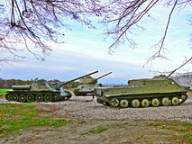 Tank T 32 Sovjetgevechtswapen van WO.II Stock Foto
