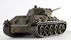 Tank T34. World War II Russian vehicle - Tank T34 (detailed model Royalty Free Stock Photography