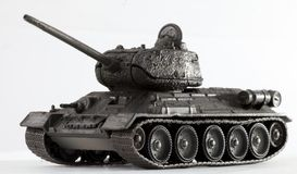 Tank T34. World War II Russian vehicle - Tank T34 (detailed model Stock Image