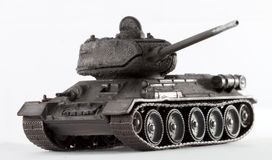 Tank T34. World War II Russian vehicle - Tank T-34 (detailed model Stock Photography
