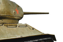 Tank T34. Old russian tank of two world war Royalty Free Stock Photography
