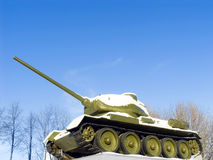 Tank T34 monument Royalty Free Stock Photo
