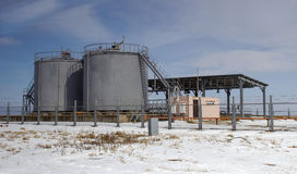 Tank to store acid. Tank for storing acids, acid is used for work Stock Image