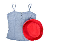 Tank Top and Red Cotton Hat Royalty Free Stock Photos