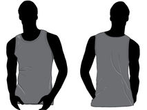 Tank top or sleeveless shirt. Tank top template or sleeveless shirt with front and back royalty free illustration