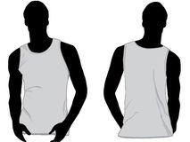 Tank top or sleeveless shirt. Tank top template or sleeveless shirt with front and back vector illustration