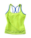 Tank top on white background. Green neon color tank top on white background Stock Image