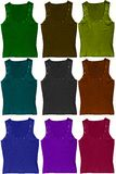 Tank Tops in Bright colors Royalty Free Stock Photography