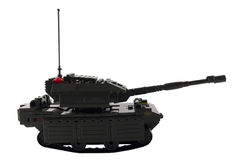 Tank. Toy tank assembled from Lego royalty free stock photography