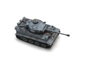 Tank. Toy tiger1 tank  with grey color ,very famous in WW2 Royalty Free Stock Photography