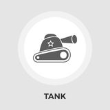 Tank toy vector flat icon Royalty Free Stock Photography