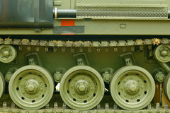 Tank tracks Royalty Free Stock Photos