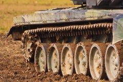 Tank tracks stock image
