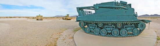 Tank Tracks - Close-up Panorama Royalty Free Stock Images