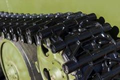 Tank tracks detail Stock Photo