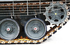 Tank Tracks. The rear end of a tank tracks Stock Image
