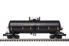 Tank Train Car. A single tank train car on track Stock Image