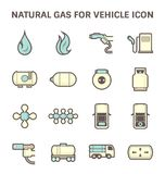 Natural gas icon Royalty Free Stock Image