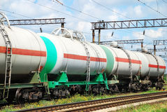 The tank is transported by rail Stock Photos