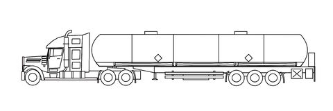 Tank truck Royalty Free Stock Images