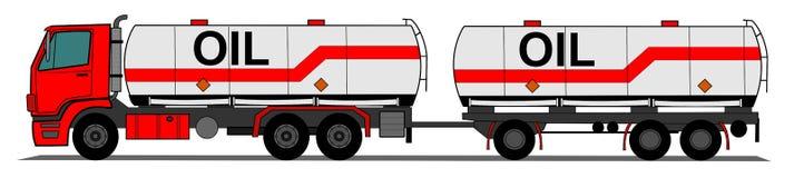 Tank truck. A side illustration tank truck Royalty Free Stock Image
