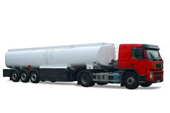 Tank truck. Red tank truck isolated on white background Royalty Free Stock Images