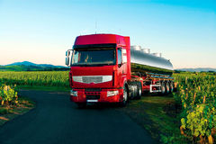 Tank truck for the food industry Stock Photo