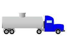 Tank truck (illustration). Royalty Free Stock Image