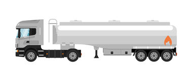 Tank truck isolated on white background stock illustration