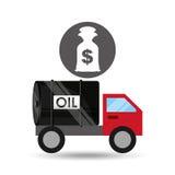 Tank truck oil bag money dollar. Vector illustration eps 10 Stock Images