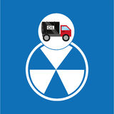 Tank truck oil contamination symbol. Vector illustration eps 10 Royalty Free Stock Image