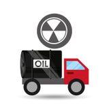Tank truck oil contamination symbol. Vector illustration eps 10 Stock Image