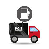 Tank truck oil industry gasoline. Vector illustration eps 10 Royalty Free Stock Images