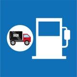 Tank truck oil industry gasoline. Vector illustration eps 10 Stock Image