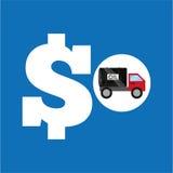 Tank truck oil price money. Vector illustration eps 10 Stock Photo
