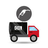 Tank truck oil station gas Stock Images