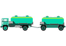 Tank truck with trailer Royalty Free Stock Images