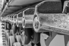 Tank truck tread wheels Stock Image