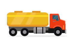 Tank Truck Vector Illustration in Flat Design Royalty Free Stock Images