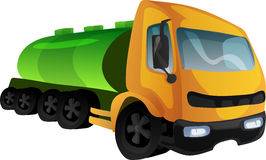 Tank truck. Vector illustration Royalty Free Stock Image