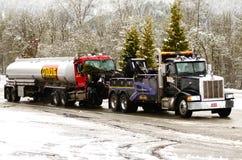 Tank Truck Wreck Royalty Free Stock Photo