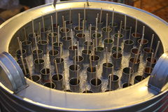 Tank of Tube ice cream Stock Photo