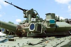 Tank turret. With machine gun Royalty Free Stock Image