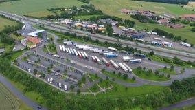 Tank und Rastanlage Wetterau, highway A5 stock video footage