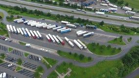 Tank und Rastanlage Wetterau, highway A5 stock footage