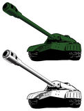 Tank, vector illustration. Tank, military armor, colored and gray, vector illustration Royalty Free Stock Photos