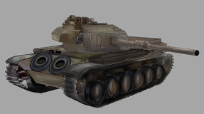 Tank vector illustration Royalty Free Stock Images