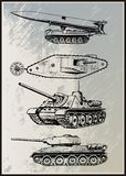Tank Vector Set Royalty Free Stock Images