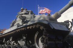 Tank in Veteran's Day Parade Stock Photography
