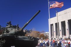 Tank in Veteran's Day Parade Royalty Free Stock Photography